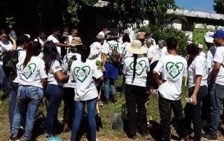 Campaña de arborización en Ciudad Arce