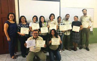 Entrega de diplomas taller de género